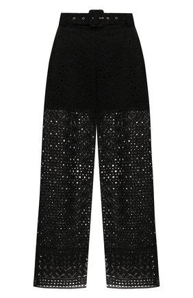 Женские хлопковые брюки CHARO RUIZ IBIZA черного цвета, арт. 213501 | Фото 1