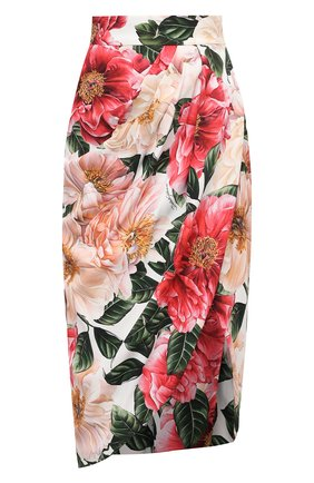 Женская юбка из вискозы DOLCE & GABBANA розового цвета, арт. F4BWUT/FSRMU | Фото 1