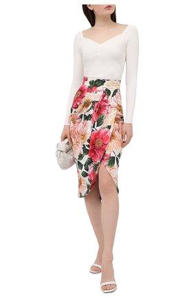 Женская юбка из вискозы DOLCE & GABBANA розового цвета, арт. F4BWUT/FSRMU | Фото 2