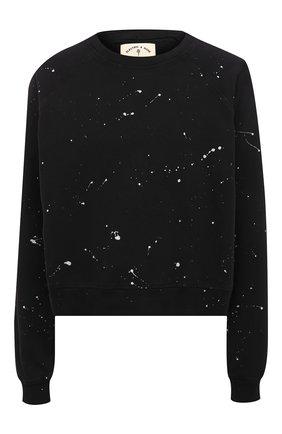 Женский хлопковый свитшот ELECTRIC&ROSE черного цвета, арт. LFCV08-GALAXY | Фото 1