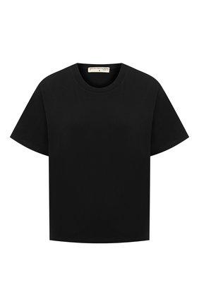 Женская хлопковая футболка ELECTRIC&ROSE черного цвета, арт. LFTP22 | Фото 1