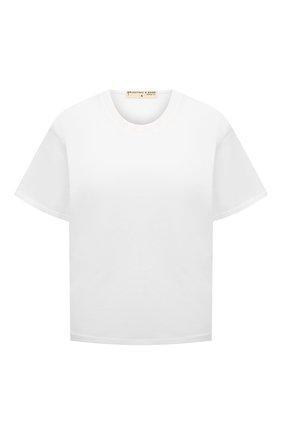 Женская хлопковая футболка ELECTRIC&ROSE белого цвета, арт. LFTP22 | Фото 1