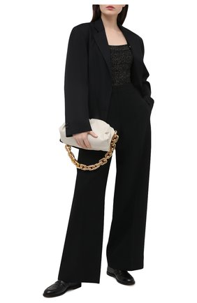 Женское боди из вискозы BALMAIN черного цвета, арт. VF10961/K212 | Фото 2