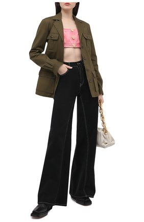 Женский джинсовый топ BALMAIN розового цвета, арт. VF10022/D090 | Фото 2