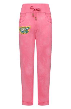 Женские хлопковые брюки BALMAIN розового цвета, арт. VF15364/J096 | Фото 1