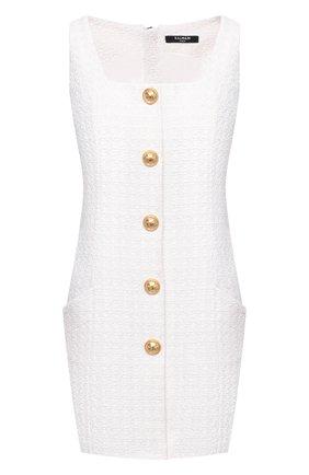 Женское платье BALMAIN белого цвета, арт. VF16054/C275 | Фото 1