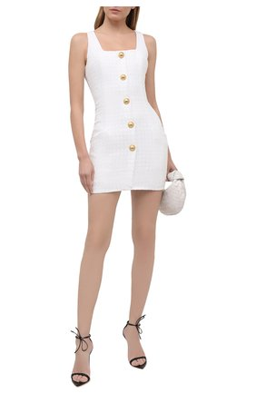 Женское платье BALMAIN белого цвета, арт. VF16054/C275 | Фото 2