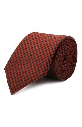 Мужской шелковый галстук BOSS красного цвета, арт. 50452375 | Фото 1