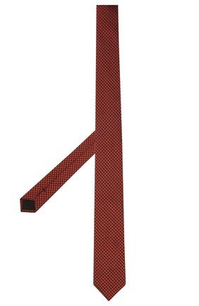 Мужской шелковый галстук BOSS красного цвета, арт. 50452375 | Фото 2