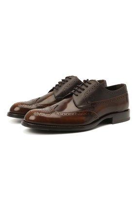 Мужские кожаные дерби TOD'S коричневого цвета, арт. XXM01E00530PM6   Фото 1