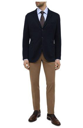 Мужские кожаные дерби TOD'S коричневого цвета, арт. XXM01E00530PM6   Фото 2