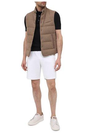 Мужские хлопковые шорты RALPH LAUREN белого цвета, арт. 790786107 | Фото 2