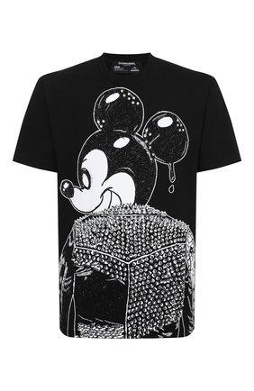 Мужская хлопковая футболка DOMREBEL черного цвета, арт. MICK/0VERSIZE T-SHIRT/25SW | Фото 1