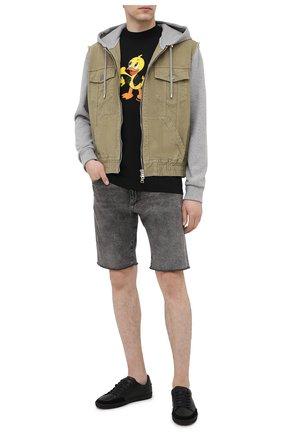 Мужская хлопковая футболка DOMREBEL черного цвета, арт. L0VER/0VERSIZE T-SHIRT | Фото 2
