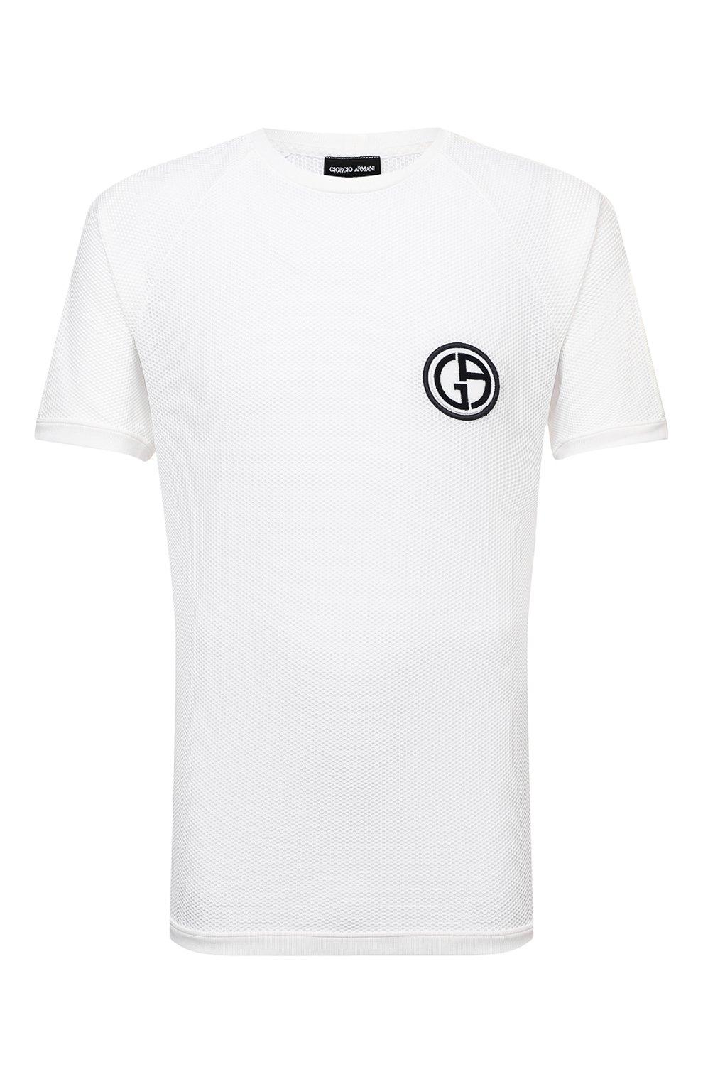 Мужская футболка GIORGIO ARMANI белого цвета, арт. 3KSM74/SJFJZ | Фото 1