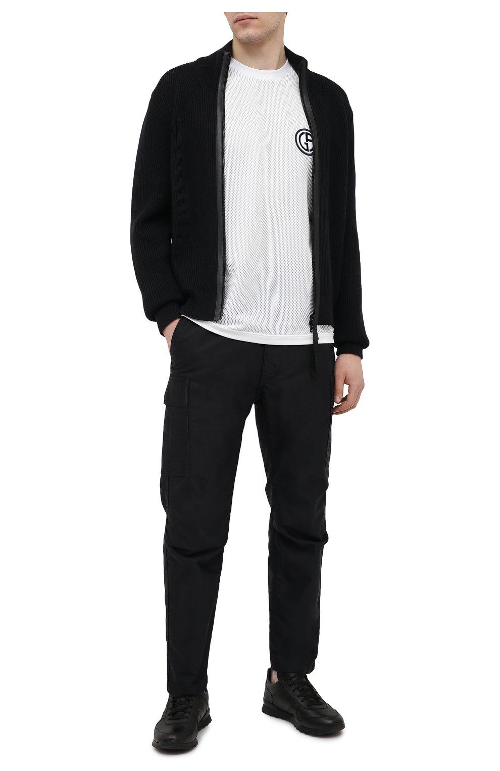 Мужская футболка GIORGIO ARMANI белого цвета, арт. 3KSM74/SJFJZ | Фото 2