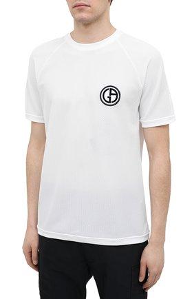 Мужская футболка GIORGIO ARMANI белого цвета, арт. 3KSM74/SJFJZ | Фото 3