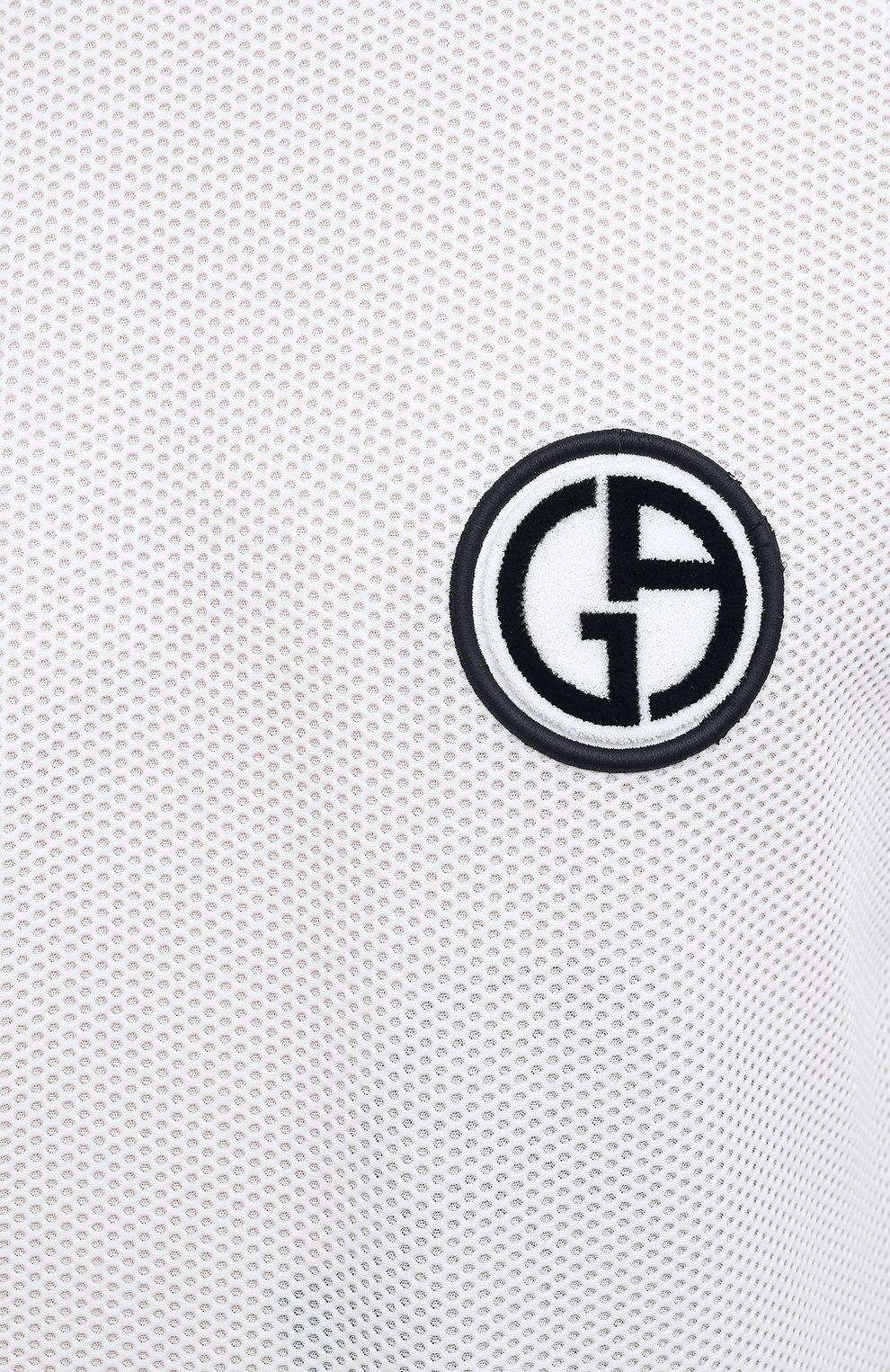 Мужская футболка GIORGIO ARMANI белого цвета, арт. 3KSM74/SJFJZ | Фото 5