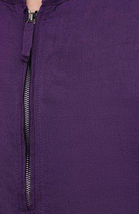 Мужская льняная рубашка GIORGIO ARMANI фиолетового цвета, арт. 1SGCCZ50/TZ256 | Фото 5