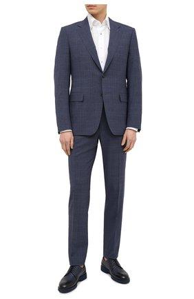 Мужские кожаные дерби DOUCAL'S темно-синего цвета, арт. DU1385HELMUZ053BB04   Фото 2