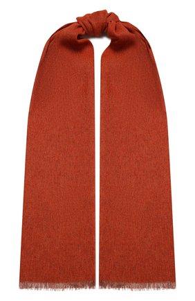Мужской шарф из кашемира и льна LORO PIANA оранжевого цвета, арт. FAL5694 | Фото 1