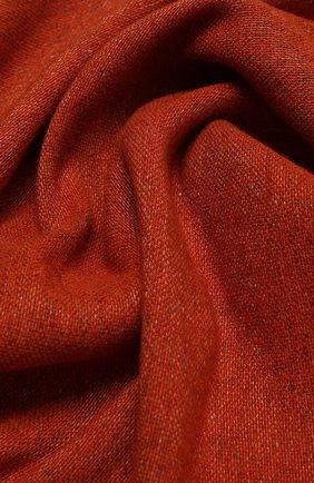 Мужской шарф из кашемира и льна LORO PIANA оранжевого цвета, арт. FAL5694 | Фото 2
