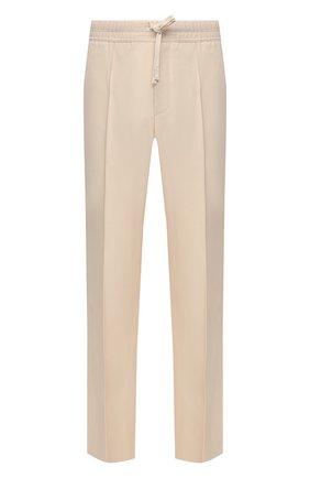 Мужские брюки из вискозы TOM FORD кремвого цвета, арт. 979R03/739D42 | Фото 1 (Случай: Повседневный; Стили: Кэжуэл; Материал внешний: Вискоза; Длина (брюки, джинсы): Стандартные)
