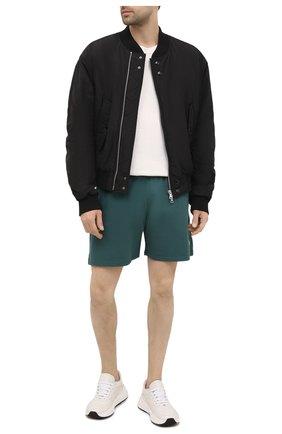 Мужские хлопковые шорты CASABLANCA темно-зеленого цвета, арт. MS21-JTR-003 DARK GREEN - L0G0   Фото 2