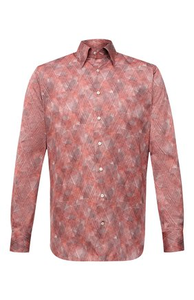 Мужская хлопковая сорочка ZILLI красного цвета, арт. MFV-3411-2142/0008 | Фото 1