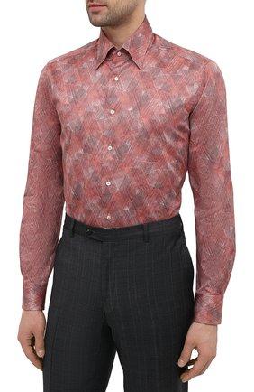 Мужская хлопковая сорочка ZILLI красного цвета, арт. MFV-3411-2142/0008 | Фото 3