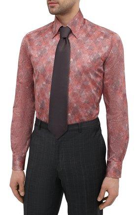 Мужская хлопковая сорочка ZILLI красного цвета, арт. MFV-3411-2142/0008 | Фото 4