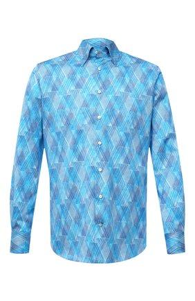 Мужская хлопковая сорочка ZILLI голубого цвета, арт. MFV-3411-2142/0007 | Фото 1