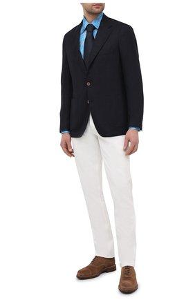 Мужская хлопковая сорочка ZILLI голубого цвета, арт. MFV-3411-2142/0007 | Фото 2