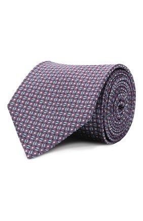 Мужской шелковый галстук BRIONI фиолетового цвета, арт. 061D00/P041V | Фото 1 (Материал: Текстиль, Шелк; Принт: С принтом)