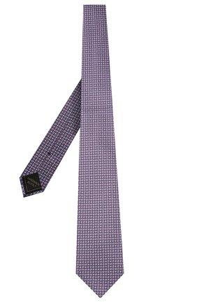 Мужской шелковый галстук BRIONI фиолетового цвета, арт. 061D00/P041V | Фото 2 (Материал: Текстиль, Шелк; Принт: С принтом)