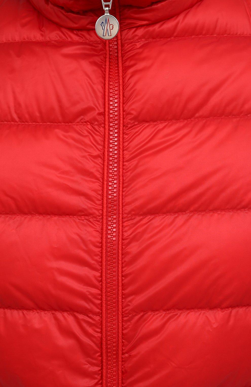 Мужская пуховая куртка agay MONCLER красного цвета, арт. G1-091-1A110-00-53279   Фото 5 (Кросс-КТ: Куртка; Мужское Кросс-КТ: пуховик-короткий; Рукава: Длинные; Материал внешний: Синтетический материал; Материал подклада: Синтетический материал; Длина (верхняя одежда): Короткие; Стили: Кэжуэл)