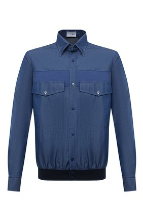 Мужская хлопковая рубашка ZILLI SPORT синего цвета, арт. MFU-7060-0001/0007/08/09/10/11 | Фото 1