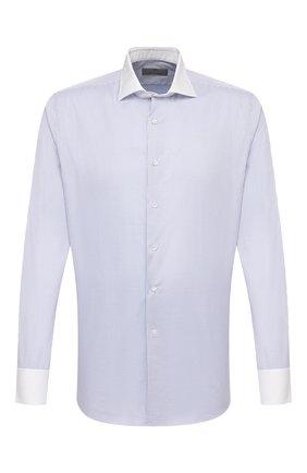 Мужская хлопковая сорочка CANALI серого цвета, арт. 7C3/GD01876   Фото 1