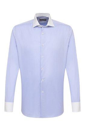 Мужская хлопковая сорочка CANALI голубого цвета, арт. 7C3/GD01876   Фото 1