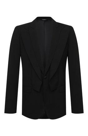 Мужской шерстяной пиджак DOLCE & GABBANA черного цвета, арт. G2P00T/FUBEC   Фото 1