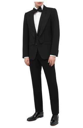 Мужской шерстяной пиджак DOLCE & GABBANA черного цвета, арт. G2P00T/FUBEC   Фото 2