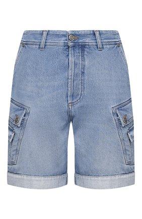 Мужские джинсовые шорты BALMAIN синего цвета, арт. VH1MA000/104D | Фото 1