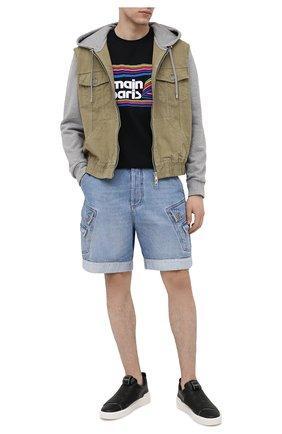 Мужские джинсовые шорты BALMAIN синего цвета, арт. VH1MA000/104D | Фото 2