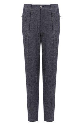 Мужские брюки изо льна и хлопка GIORGIO ARMANI синего цвета, арт. 1SGPP0GM/T02CB | Фото 1