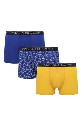 Мужские комплект из трех боксеров POLO RALPH LAUREN разноцветного цвета, арт. 714830299/014 | Фото 1