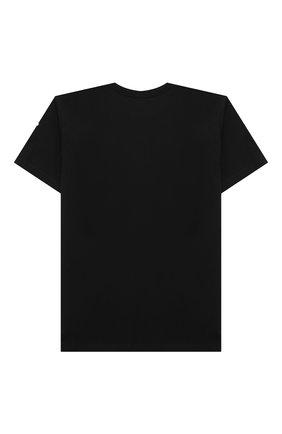 Детская хлопковая футболка MARCELO BURLON KIDS OF MILAN черного цвета, арт. 21E/B/MB/1110/0010/8-14Y   Фото 2
