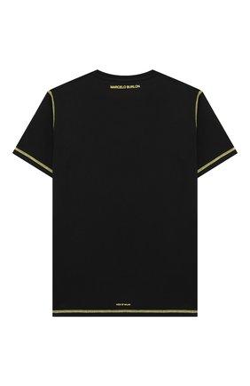 Детская хлопковая футболка MARCELO BURLON KIDS OF MILAN желтого цвета, арт. 21E/B/MB/1116/0010/8-14Y   Фото 2