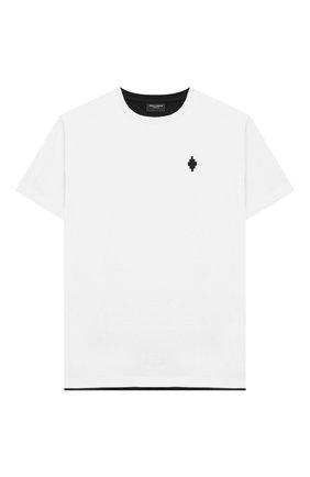 Детская хлопковая футболка MARCELO BURLON KIDS OF MILAN белого цвета, арт. 21E/B/MB/1119/0010/8-14Y   Фото 1