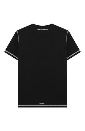 Детская хлопковая футболка MARCELO BURLON KIDS OF MILAN белого цвета, арт. 21E/B/MB/1119/0010/8-14Y   Фото 2
