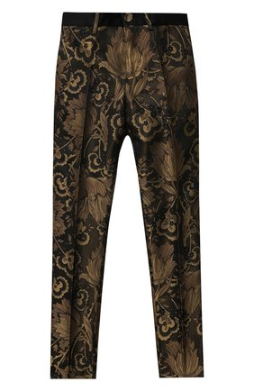 Детские брюки DOLCE & GABBANA золотого цвета, арт. L43P20/HJ0AI/2-6 | Фото 1